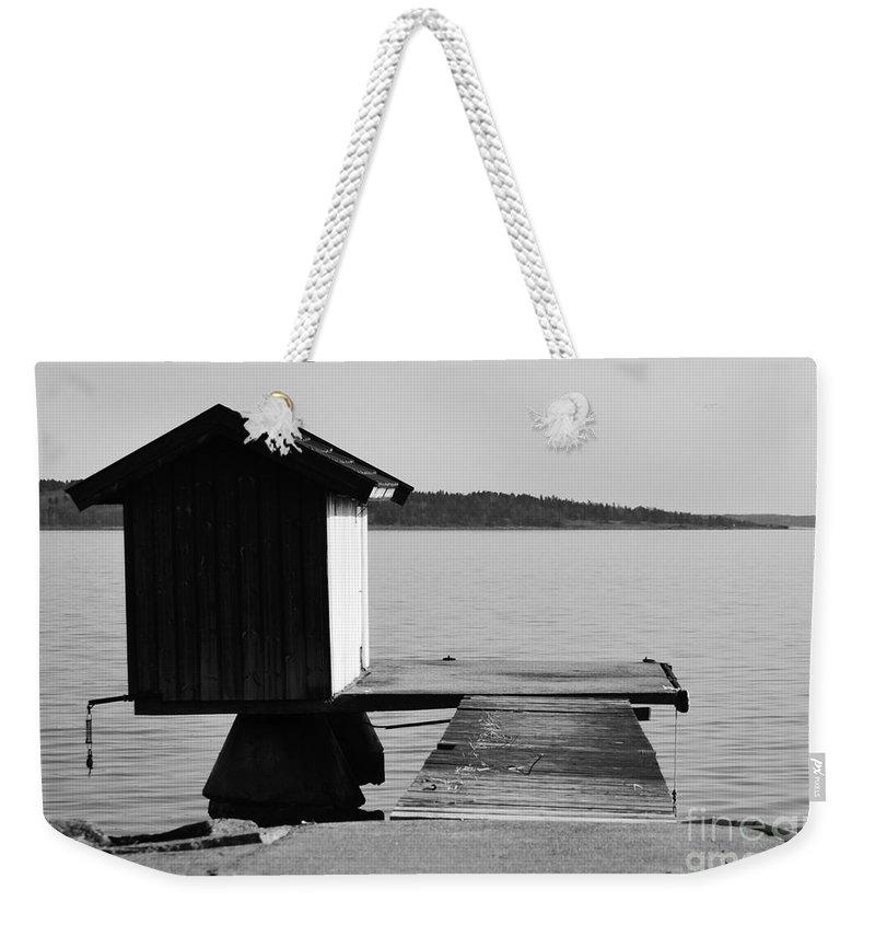 Bathing Jetty Weekender Tote Bag featuring the photograph Bathing Jetty 3 by Randi Grace Nilsberg