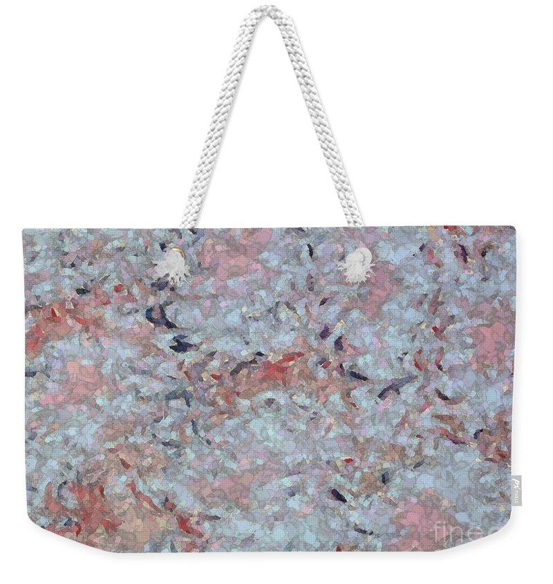 Batik Weekender Tote Bag featuring the photograph Batik-marble by Barbie Corbett-Newmin