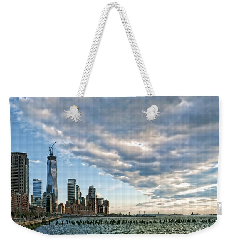 Weekender Tote Bag featuring the photograph Battery Park City 2013 by S Paul Sahm
