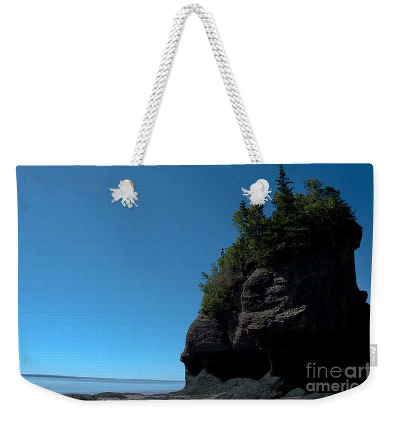Weekender Tote Bag featuring the photograph Bay Of Fundy Landmark by Cheryl Baxter