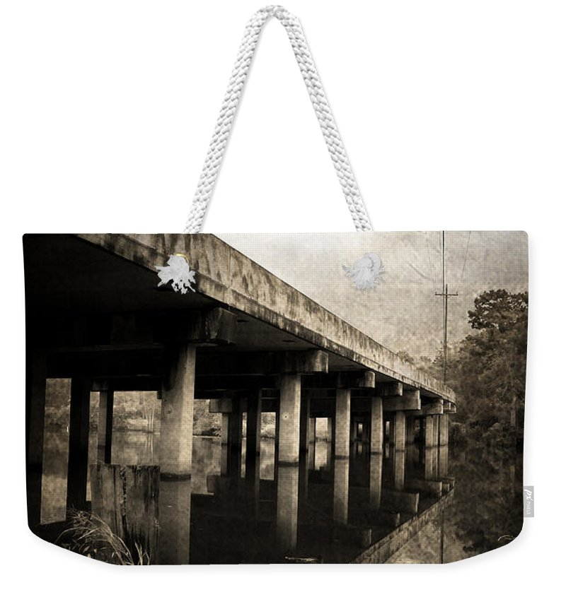 Water Weekender Tote Bag featuring the photograph Bay View Bridge by Scott Pellegrin