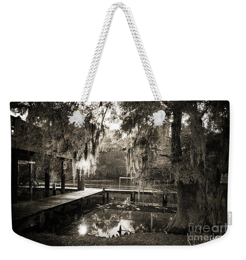 Swamp Weekender Tote Bag featuring the photograph Bayou Evening by Scott Pellegrin