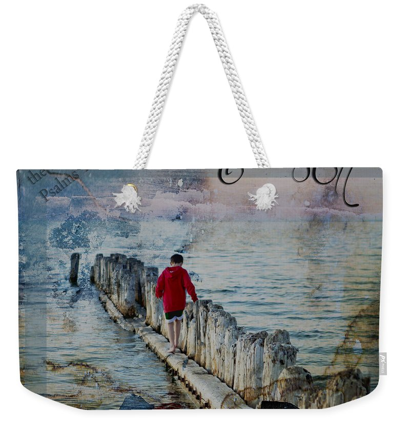 Evie Weekender Tote Bag featuring the photograph Be Still by Evie Carrier