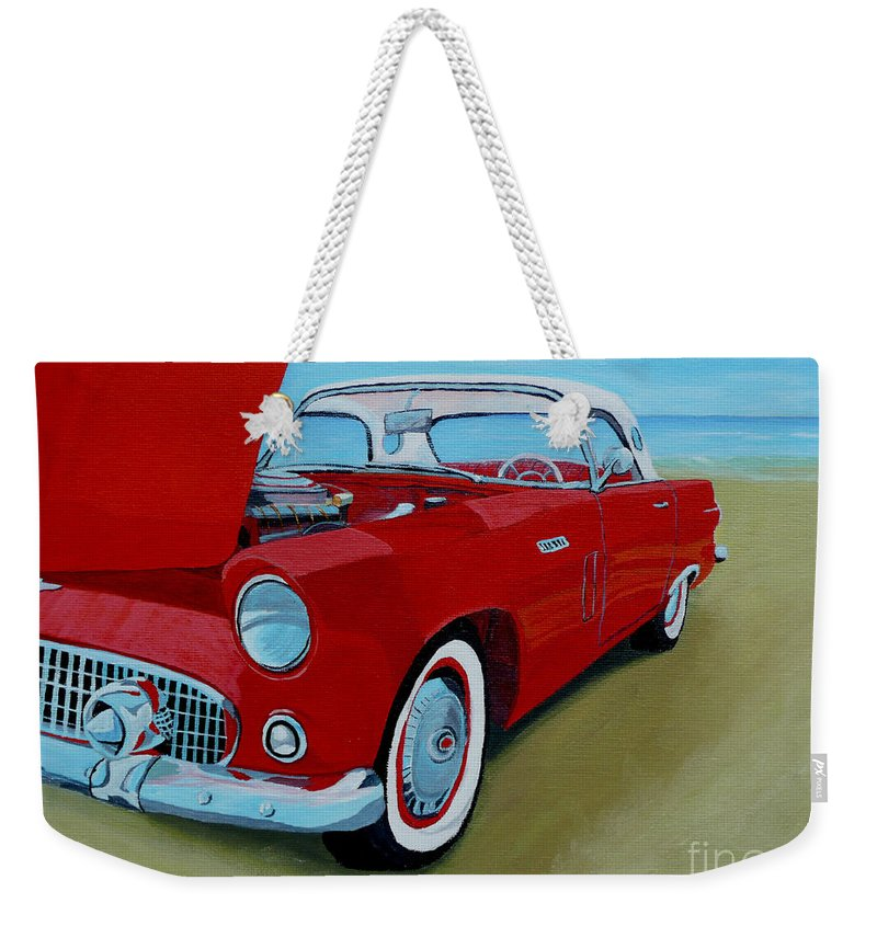 Car Weekender Tote Bag featuring the painting Thunder Bird by Anthony Dunphy