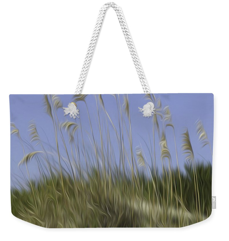 Beach Weekender Tote Bag featuring the photograph Beach Dune Pixelated by James Ekstrom