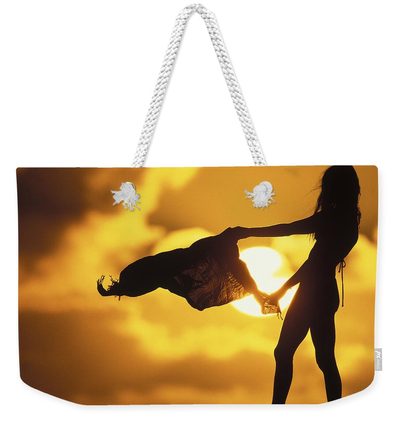 Beach Girl Weekender Tote Bag featuring the photograph Beach Girl by Sean Davey