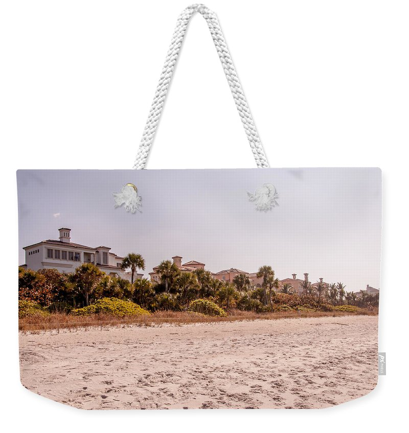 Luxuries Weekender Tote Bag featuring the photograph Beach Homes by Amel Dizdarevic