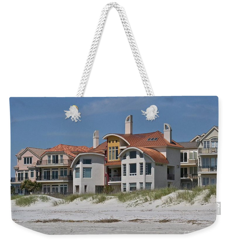 South Carolina Weekender Tote Bag featuring the photograph Beach House by Carol Bradley