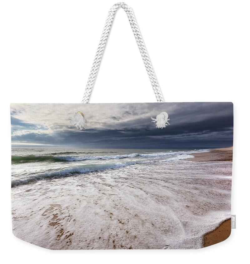 Beach Weekender Tote Bag featuring the photograph Beach Morning by Bill Wakeley