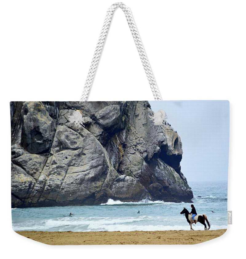 Scenic Weekender Tote Bag featuring the photograph Beach Scene by AJ Schibig