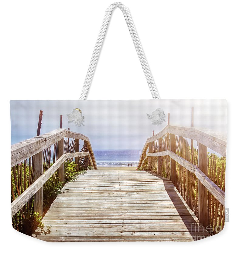 Beach Weekender Tote Bag featuring the photograph Beach View by Elena Elisseeva