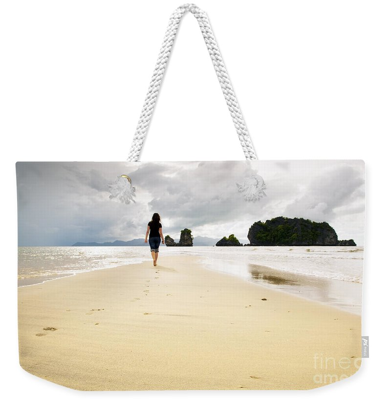 Malaysia Weekender Tote Bag featuring the photograph Beach Walking by Tim Hester
