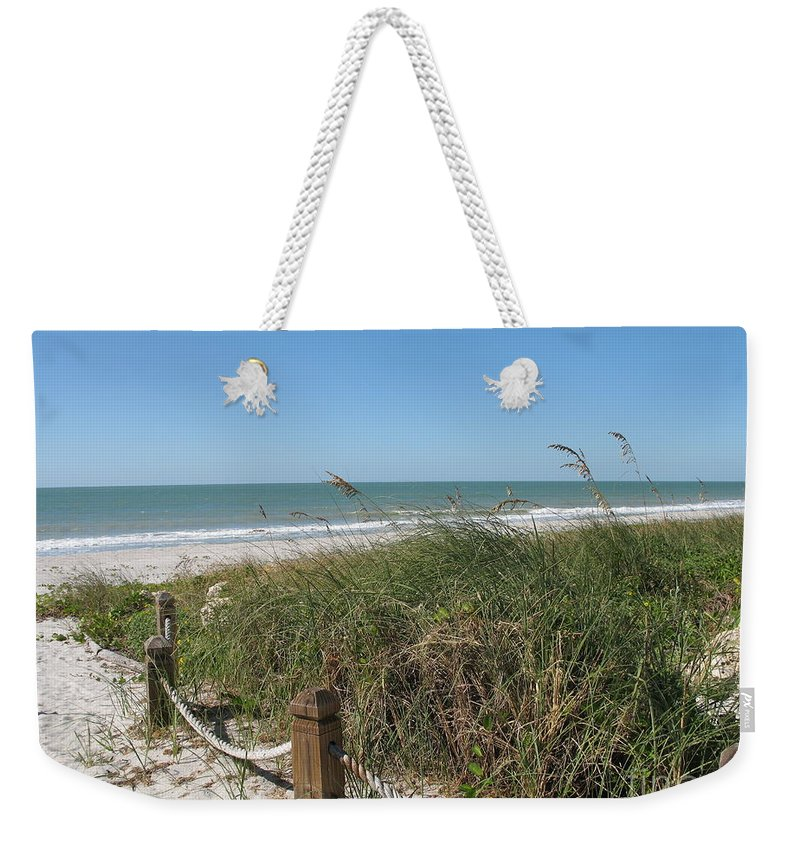 Beach Weekender Tote Bag featuring the photograph Beachaccess by Christiane Schulze Art And Photography