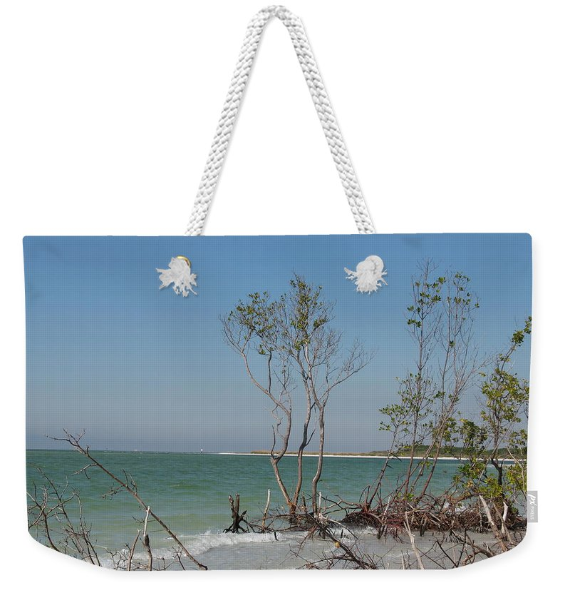 Beach Weekender Tote Bag featuring the photograph Fort De Soto Beachview by Christiane Schulze Art And Photography