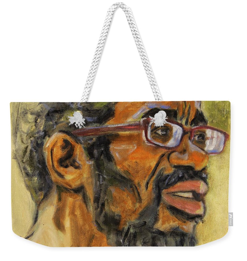 Beat Keeper Weekender Tote Bag featuring the painting Beat Keep II by Xueling Zou