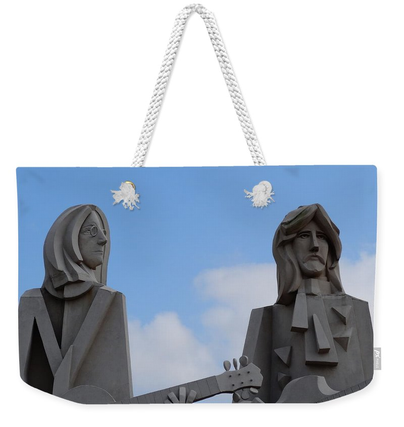 Music Weekender Tote Bag featuring the photograph Beatles by Dan Sproul