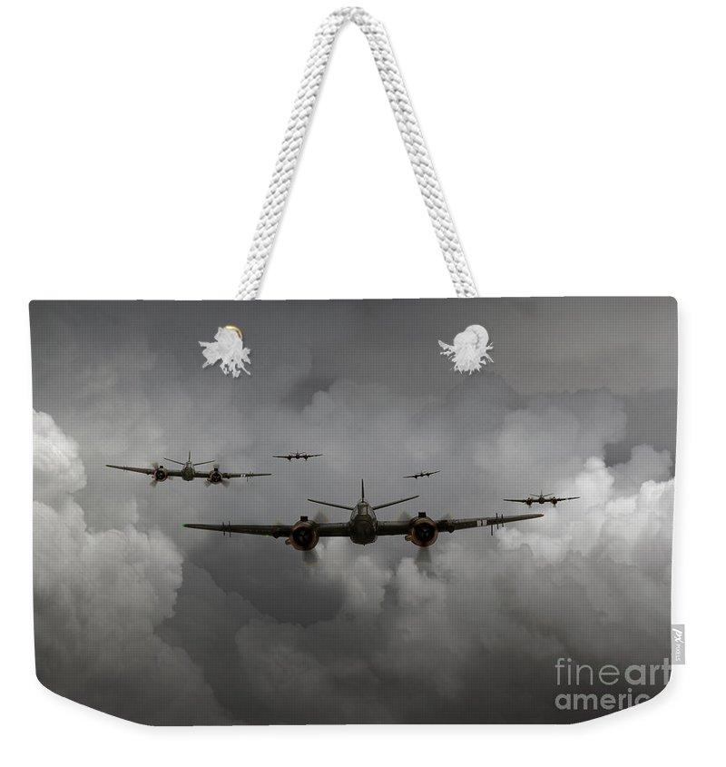 Bristol Beaufighter Weekender Tote Bag featuring the digital art Beaufighter Nightfighter by J Biggadike
