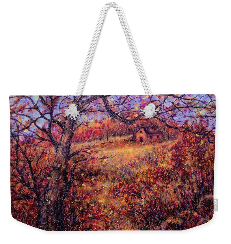 Autumn Weekender Tote Bag featuring the painting Beautiful Autumn by Natalie Holland