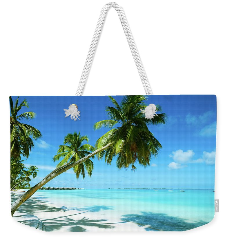Water's Edge Weekender Tote Bag featuring the photograph Beautiful Beach Resort by Phototalk