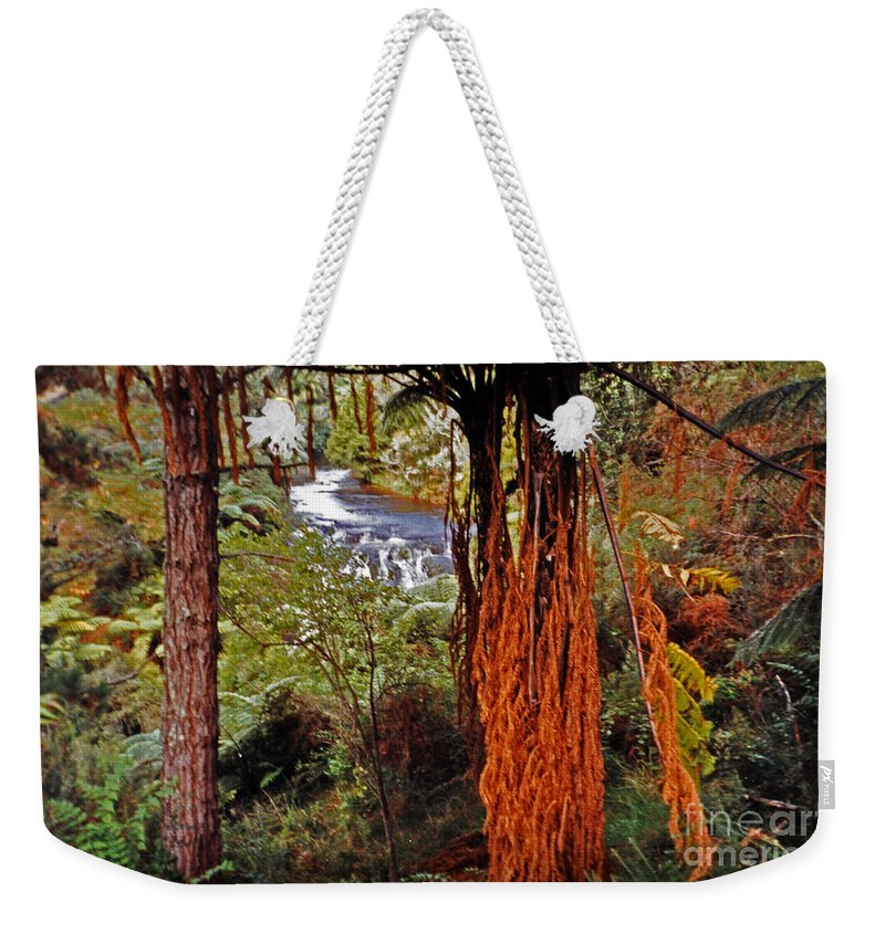 New Zealand Bush Weekender Tote Bag featuring the photograph Beautiful Bush by Lydia Holly