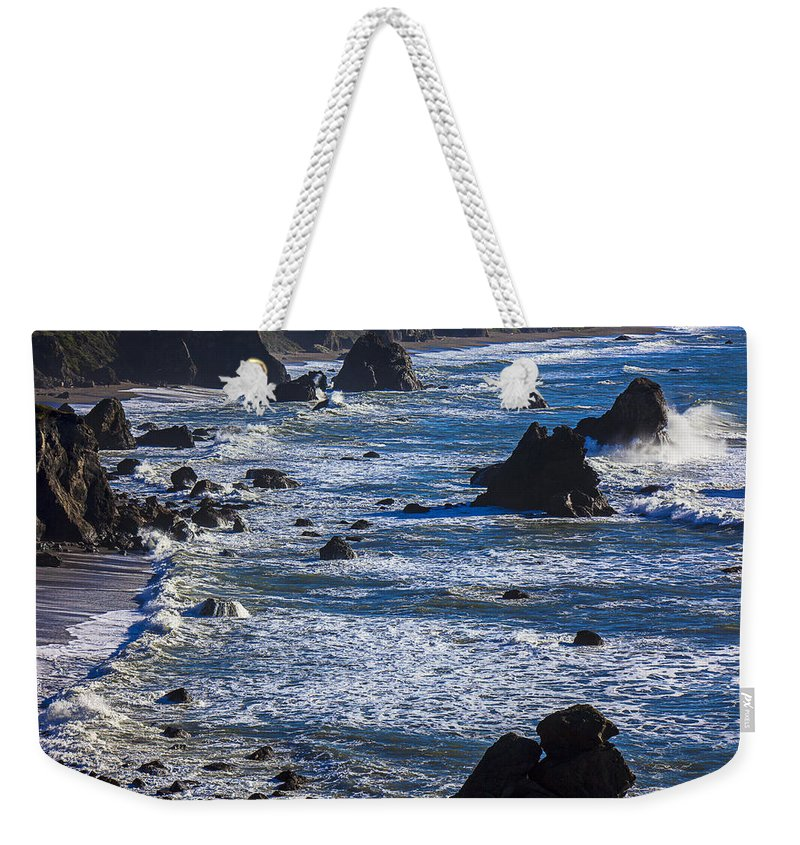 Beautiful California Weekender Tote Bag featuring the photograph Beautiful California Coast by Garry Gay
