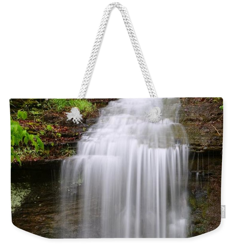 Waterfalls Weekender Tote Bag featuring the photograph Beautiful Cascade by Deanna Cagle