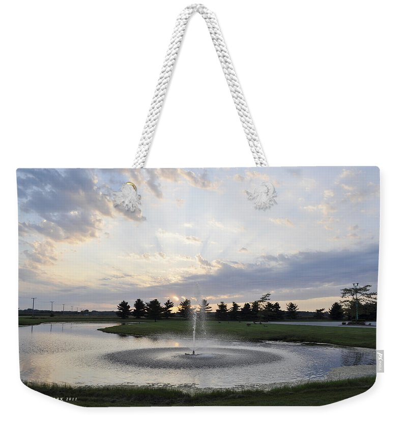 Fountain Weekender Tote Bag featuring the photograph Beautiful Day by Verana Stark