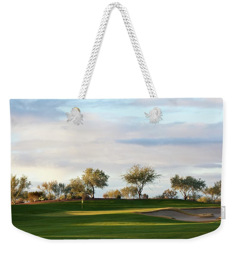Sand Trap Weekender Tote Bag featuring the photograph Beautiful Desert Golf Course by Imaginegolf