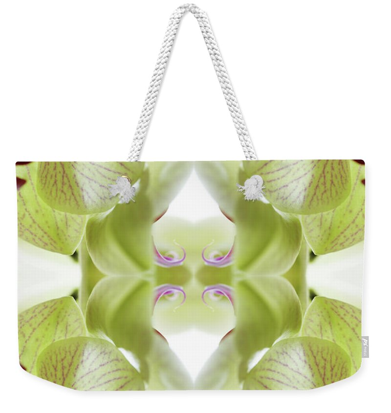 Tranquility Weekender Tote Bag featuring the photograph Beautiful, Finely Textured Orchid by Silvia Otte