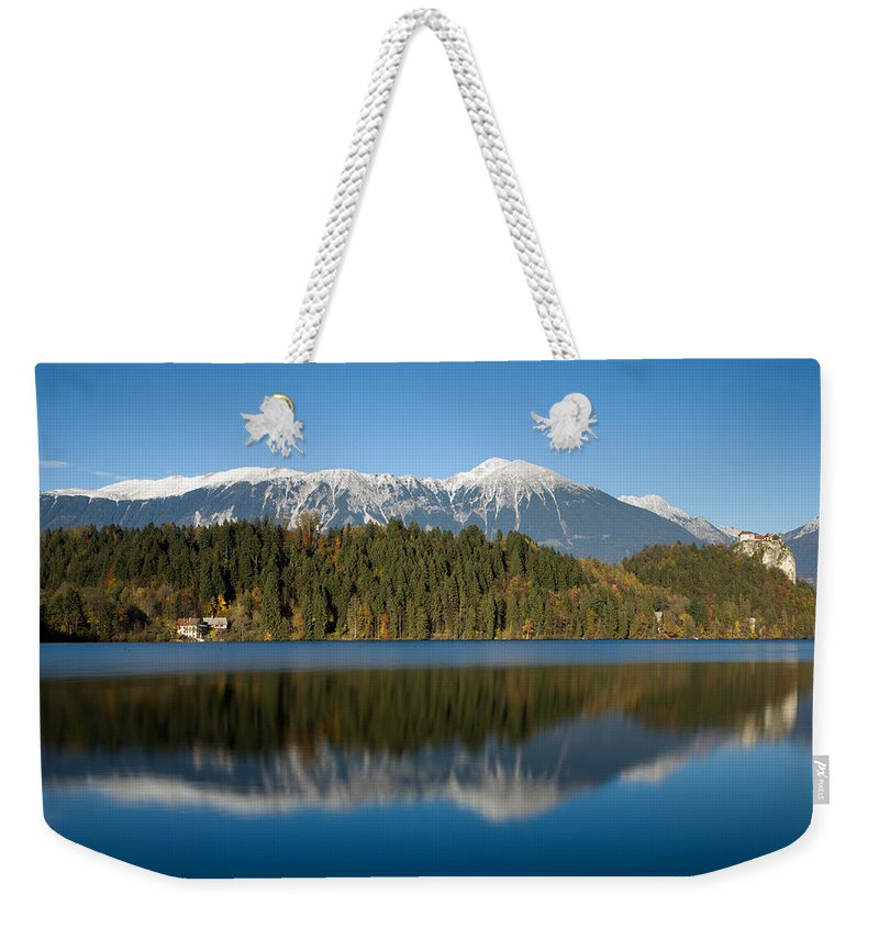 Bled Lake Weekender Tote Bag featuring the photograph Beautiful Lake Bled by Ian Middleton