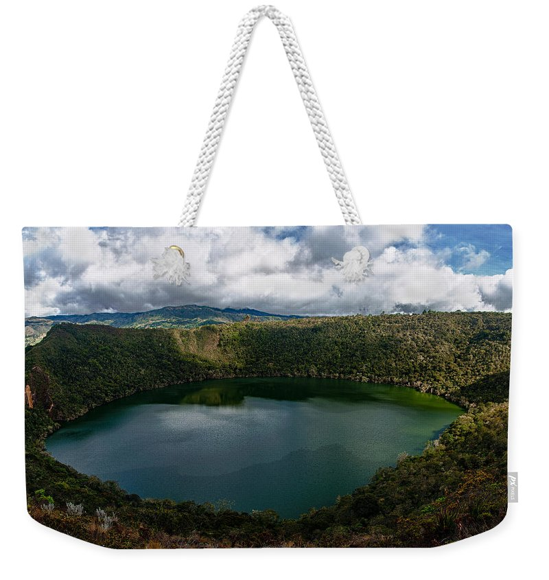 Lake Weekender Tote Bag featuring the photograph Beautiful Lake Guatavita by Jess Kraft