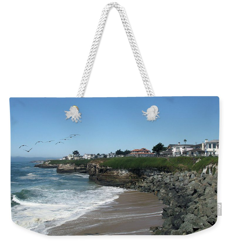 California Weekender Tote Bag featuring the photograph Beautiful Santa Cruz Coast by Christiane Schulze Art And Photography