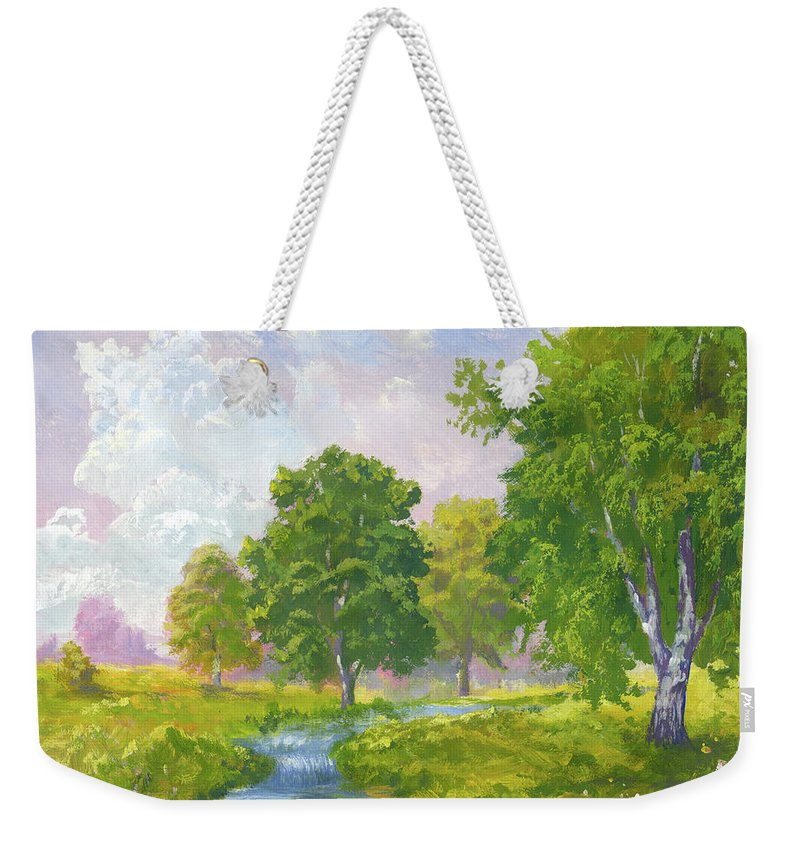 Scenics Weekender Tote Bag featuring the digital art Beautiful Summer by Pobytov