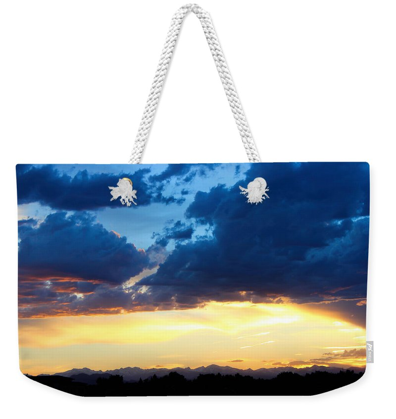 Sunset Weekender Tote Bag featuring the photograph Beautiful Sunset by Becca Buecher