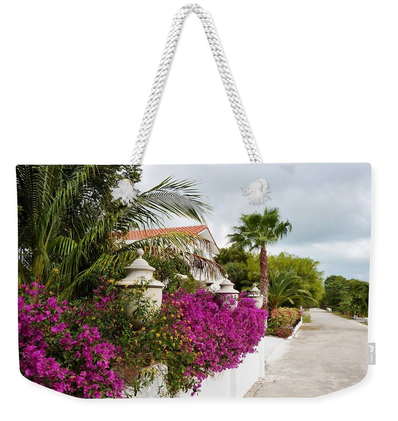 Color Weekender Tote Bag featuring the photograph Beautiful Walk by Amar Sheow