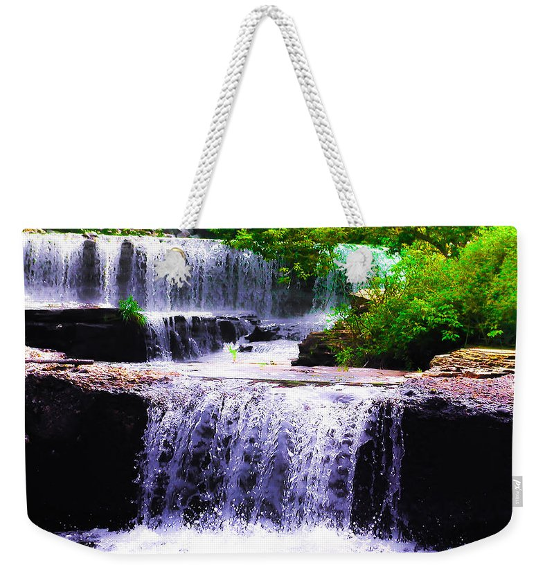 Beautiful Weekender Tote Bag featuring the photograph Beautiful Waterfall by Bill Cannon