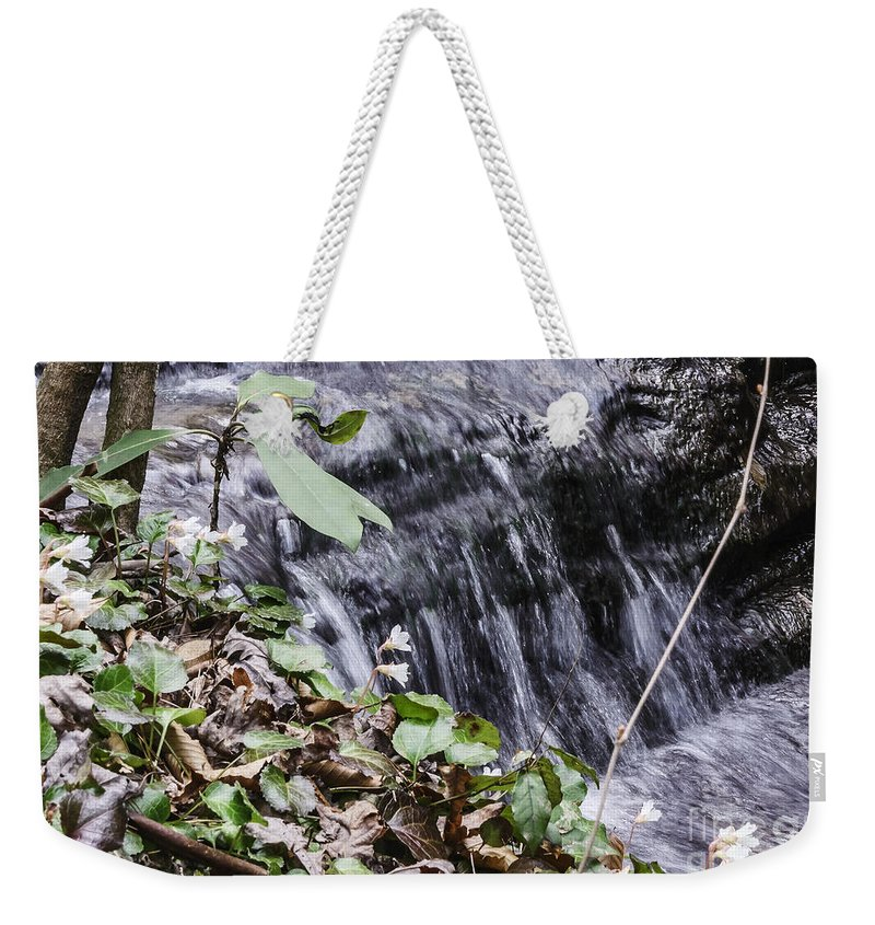 Oconee Bell Weekender Tote Bag featuring the photograph Beauty And The Rapids by Elvis Vaughn