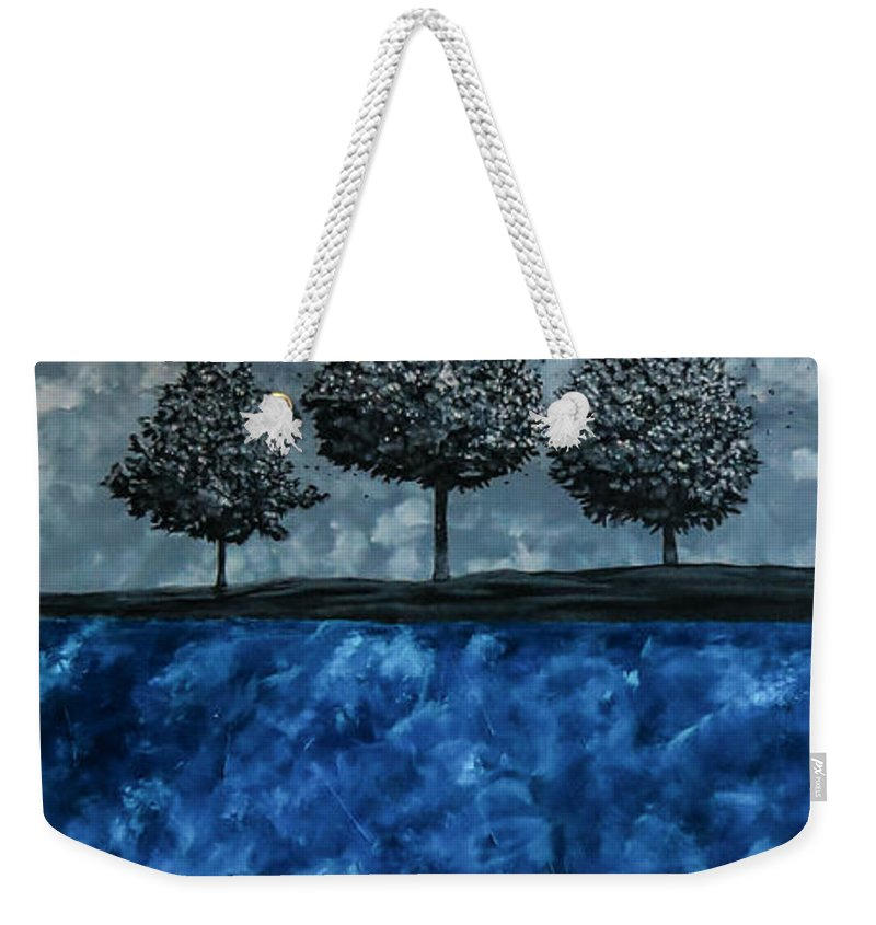 Surrealistic Weekender Tote Bag featuring the painting Beauty In The Breakdown by Joel Tesch
