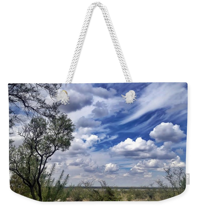 Beauty Weekender Tote Bag featuring the photograph Beauty In The Sky by Debra Martz