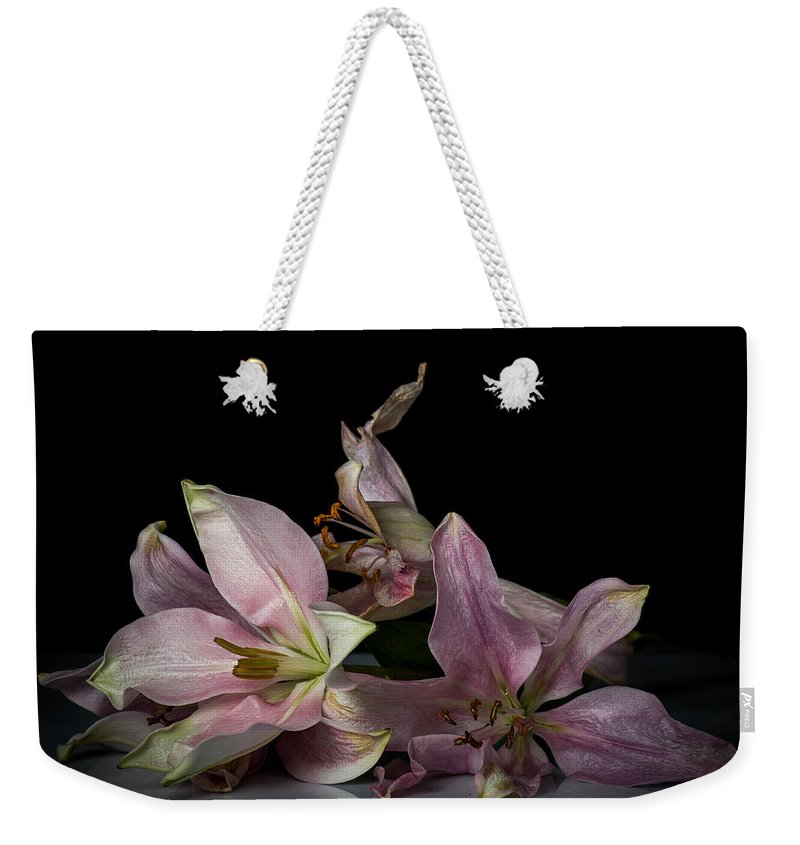 Floral Weekender Tote Bag featuring the photograph Beauty Of Decaying Lilies by James Gamble