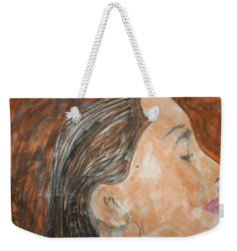 Women Weekender Tote Bag featuring the painting Beauty Remains by J Bauer