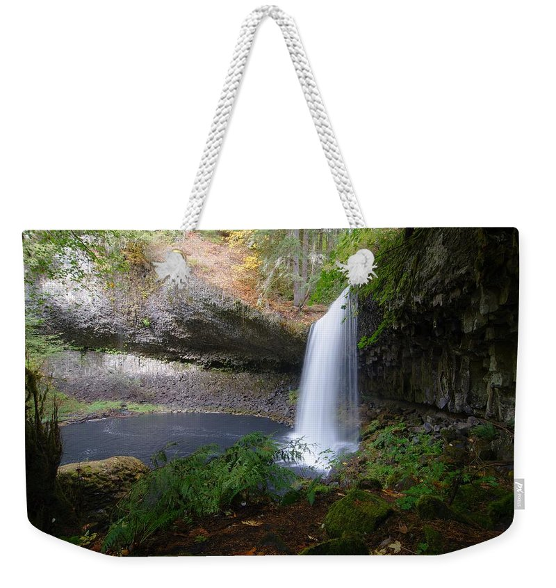 Tranquility Weekender Tote Bag featuring the photograph Beaver Falls On Beaver Creek by Ted Ducker Photography
