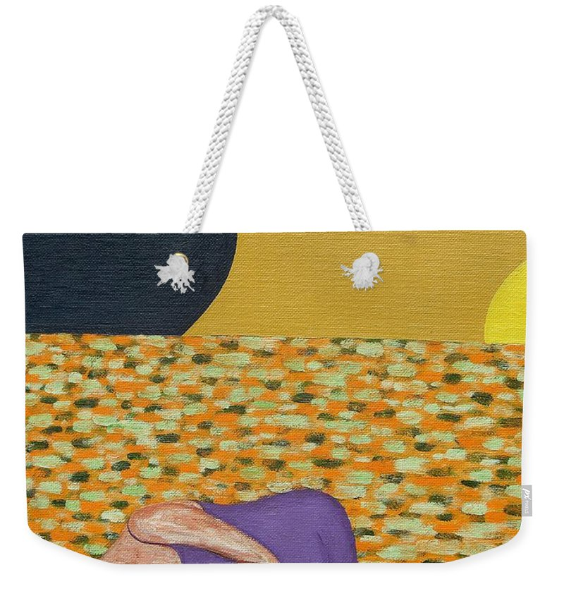 Flowers Weekender Tote Bag featuring the painting Bed Of Flowers by Patrick J Murphy