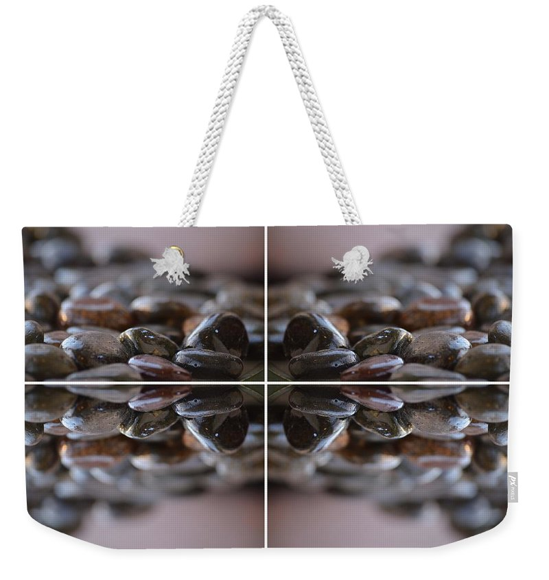 Stones Weekender Tote Bag featuring the photograph Bed Rock by Deprise Brescia