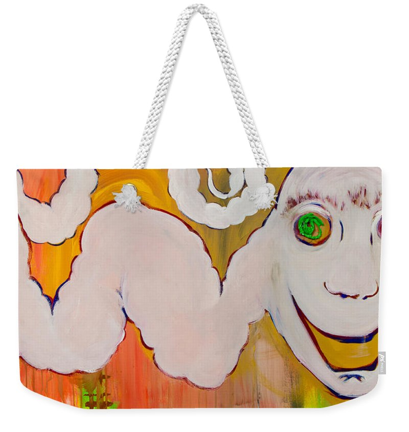 Monsters Weekender Tote Bag featuring the painting Beetlejuice by Ryanne Bevenger