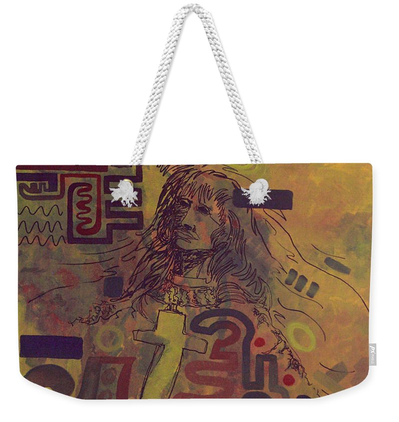 Abstract Weekender Tote Bag featuring the painting Before And After by Tonya Henderson