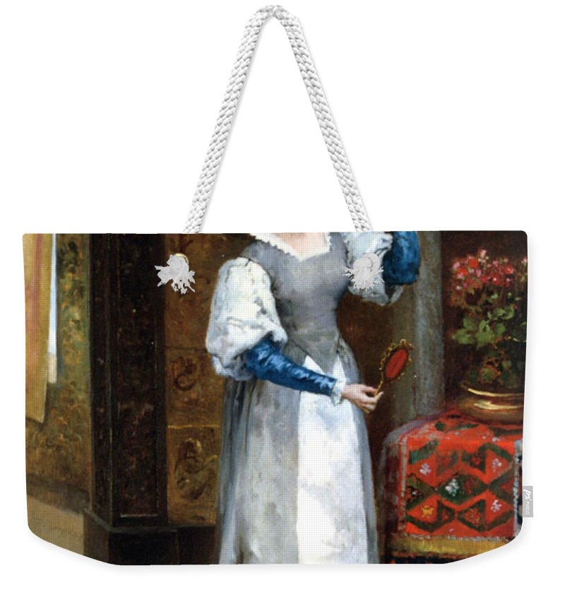 Before The Masked Ball Weekender Tote Bag featuring the digital art Before The Masked Ball by Noel Saunier
