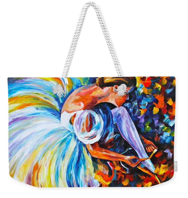 Ballet Weekender Tote Bag featuring the painting Before The Show 2 by Leonid Afremov