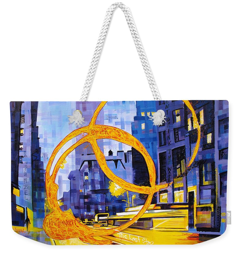 Dave Matthews Weekender Tote Bag featuring the painting Before These Crowded Streets by Joshua Morton