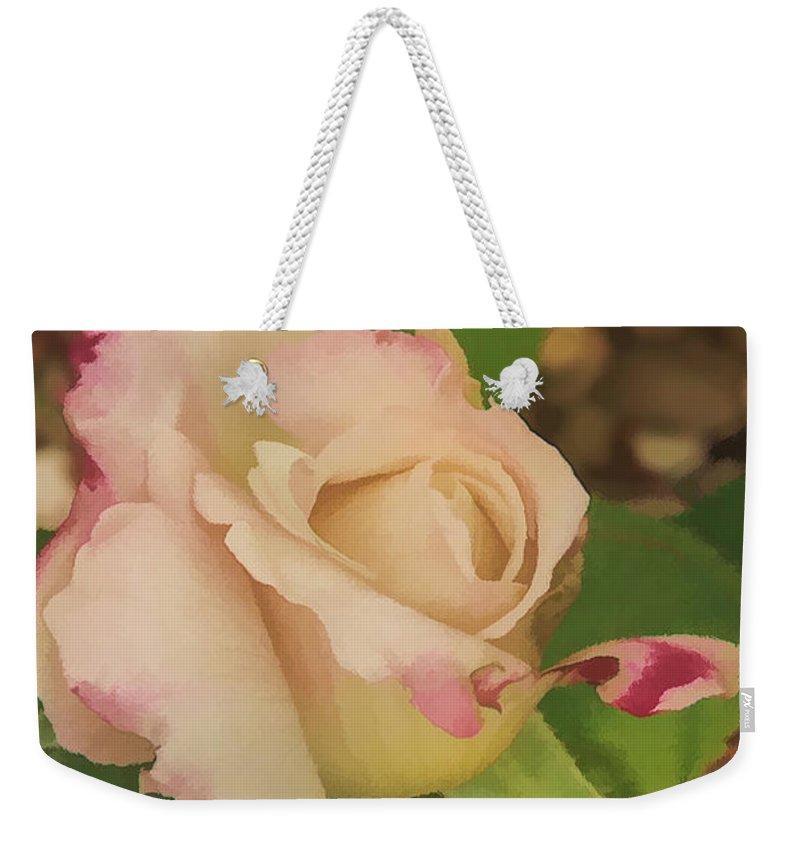 Rose Weekender Tote Bag featuring the digital art Beginning by Anita Hubbard